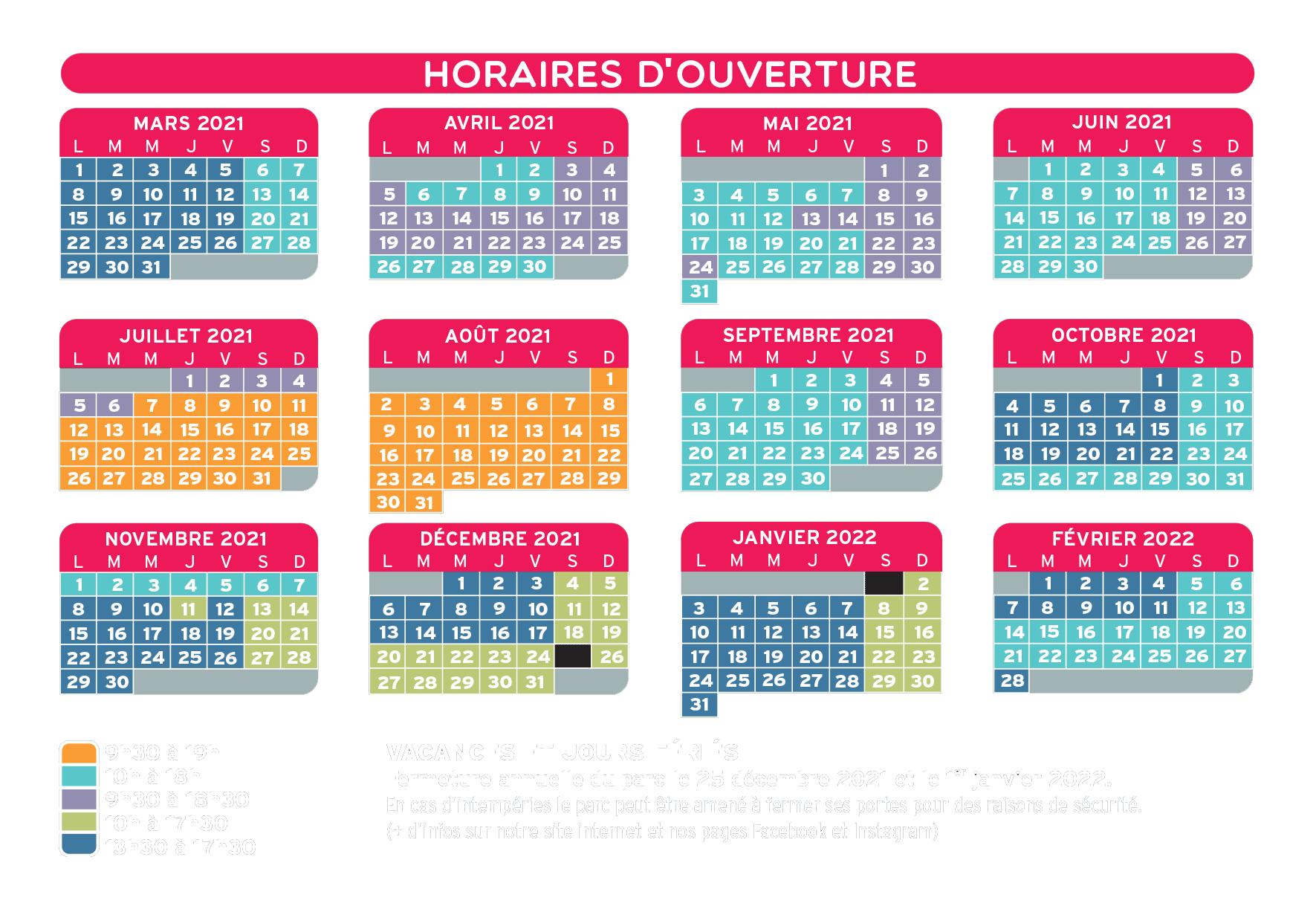 Horaires 2021